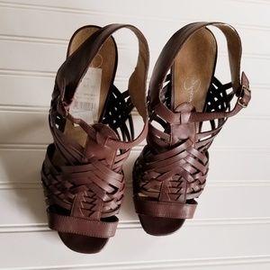 Jessica Sympson Delanco Heel Sandal Size 9.5